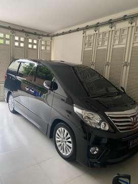 Toyota alphard s 2.4L Km low mulus pribadi hitam