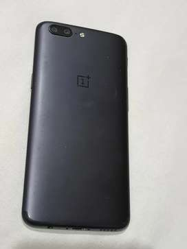 Black color, one plus 5, 6GB RAM + 64GB ROM, 5.5 INCH DISPLAY.