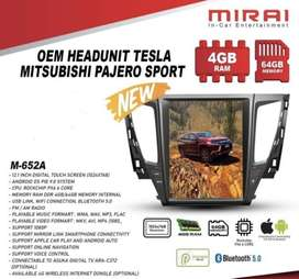 Head Unit All New Pajero Android Mirai Model Tesla 12"