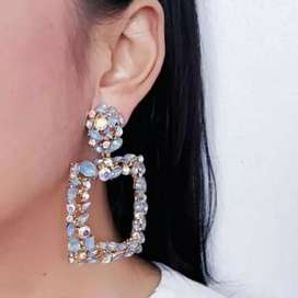 Anting Tusuk Zara Earrings Fashian Wanita Perhiasan Blue