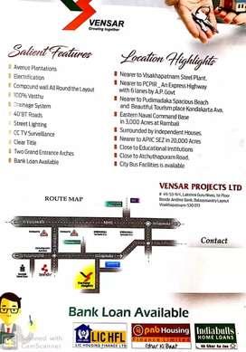 VILLA  plots readyto construct@Desapatrunipalem near steel plant vizag