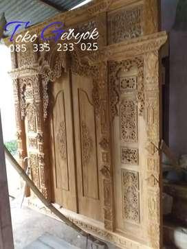 promo TOKO GEBYOK kusen pintu gapuro jendela tanpa dp asli kayu jati