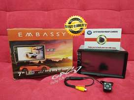 PAKET CAMERA PLUS Double Din 7 inch EMBASSY Deckless Mirrorlink MP5