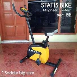 Sepeda statis magnetik bike black yellow new productions