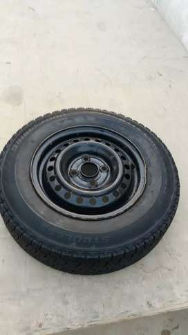 Car Tyre with Rim.
