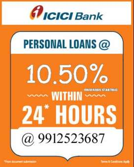 ICICI account Holder Personal Loan in 24 Hrs. No Documentation