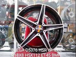 velg racing untuk mobil mercy type BLEGA D5376 HSR R18X8 H5X112 ET45 0