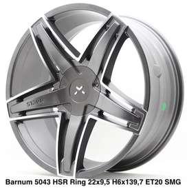 velg mobil model  BARNUM 5043 HSR R22X95 H6X139,7 ET20 SMGMF