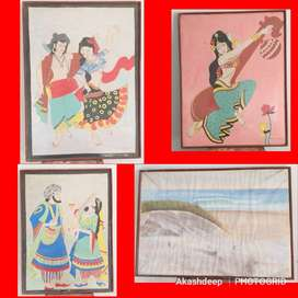 4 different Hand Paintings Rs. 1000 each