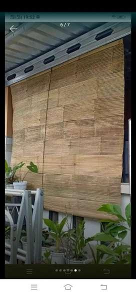 Tirai bambu,tirai rotan,dll