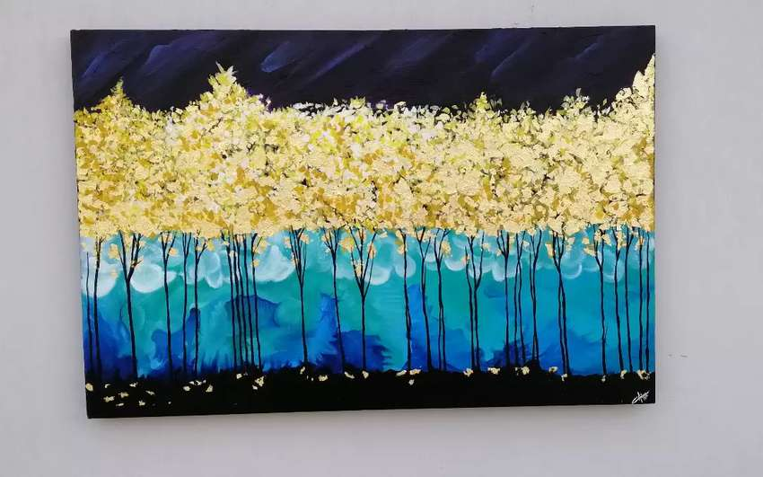 Gold leaf painting 0