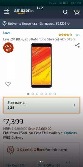 Lava z91 with 2gb ram and 16 gb rom