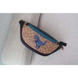 coach waistbag signature blue dyno original FO