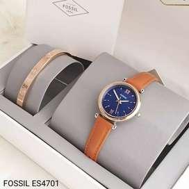 Jam tangan FOSSIL original Tipe ES4697 Cream Box original