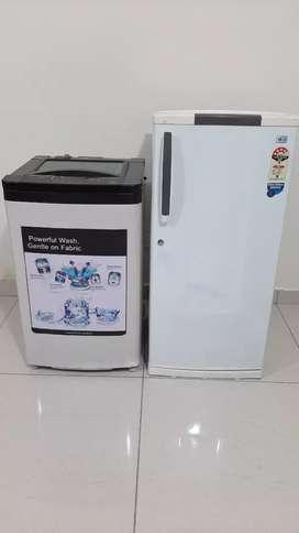 Lg single door fridge and godrej dc plus toploading  washing machine
