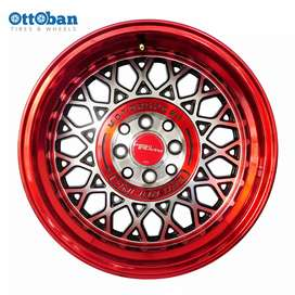 Jual velg racing ring 16 pcd 4x100 114.3 avanza jazz xenia