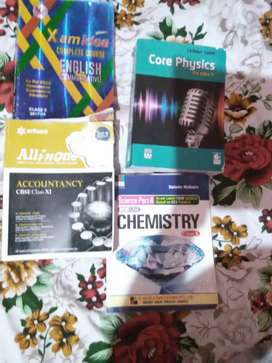 Class 10,11 English, physic, accountancy, chemistry(grb) books cbse