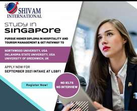 Higher education and job in Singapore without any interview and ilets