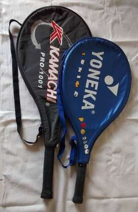 Tennis Rackets - pair of Standard and Junior sizes