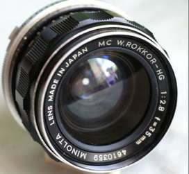 Minolta Rokkor HG 35mm f/2.8 Manual Lens for Micro Four Thirds Camera