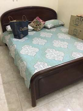 New double bed. With mattress.