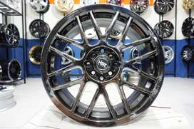Velg Mobil Murah Ring 16x7 HSR RAI-S1 BLACK CHROME Buat Mobil Jaz Brio
