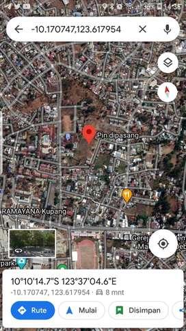 Jual tanah di tengah kota kupang, belakang perumahan Bank Indonesia