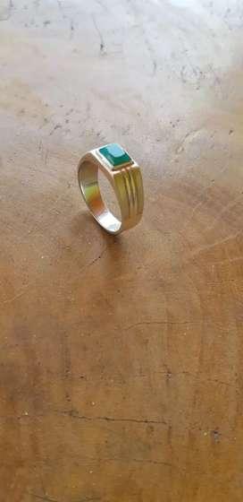 Cincin batu bacan minimalis ring perak
