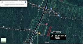 TANAH LUAS 18.845 M2 Sungai Kupah, Kec. Sungai Kakap (Prospek Tinggi)