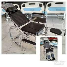 Kursi roda crome 3in1 bab selonjor tiduran lansia