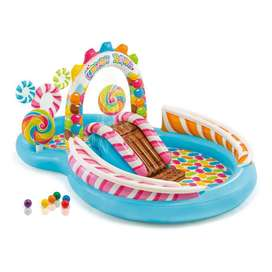 Intex – Candy Zone Play Center Inflatable Pool (10 ft long) – 57149