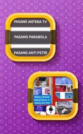 Ahli Pasang Antena Tv, Pasang Parabola & Penangkal Petir Area Pamulang