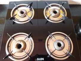 4brass burner glen mirror finish cooktop gas stove
