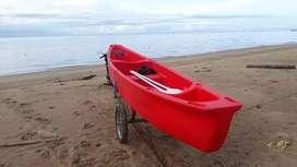 Perahu mancing canoe HDPE (plastik)