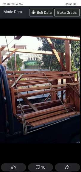 kusen pintu dari kayu bekas Borneo yg sudah oven dan berkualitas