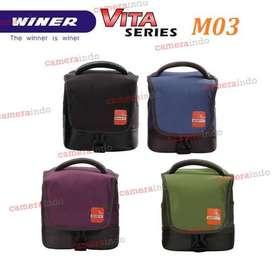 TAS Kamera WINER VITA M03 slempang kamera bag mirrorless dslr