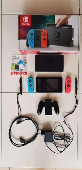 Nintendo switch full set murah support sistem firmware atmosphere