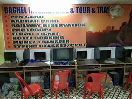 Well furnished Internet cafe with 7 computer's .