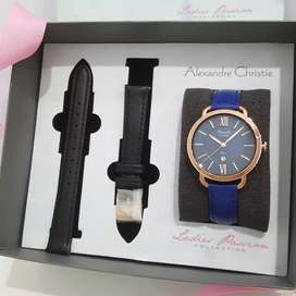 Jam Tangan Alexandre Christie AC2674 Original Bonus Strap