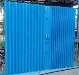 Pintu rolling door pintu folding gate pagar stainless kusen aluminium