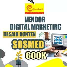 Vendor digital marketing desain konten sosmed 24 jam melayani