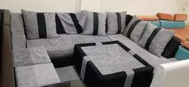 L Shape 7 Seater Sofa 8.5ft × 6.75 ft with 2 Year Warranty