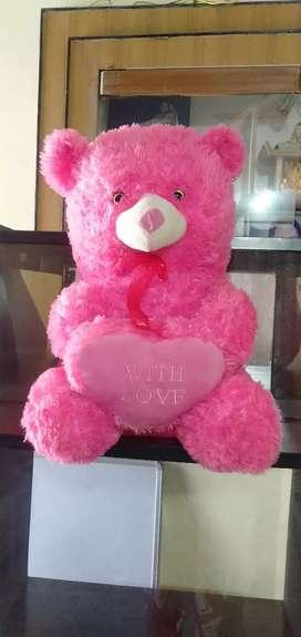 Big pink furry teddy bear