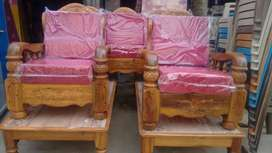 assam teak wood 5 seater set with qushan free delivery all bengalore