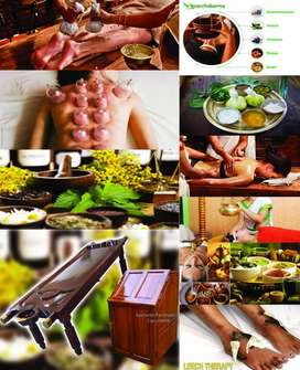 Female and male therapist for Ayurvedic clinic