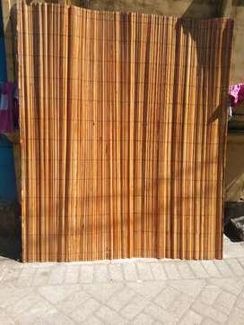 Tirai kulit bambu dan isi bambu dan rotan dan isi