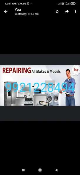 Washing machines and refrigerator repair and services