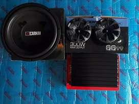 Paket Audio Murah Power Subwofer Speaker tweeter box plus pasang