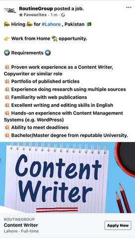 Content Writter