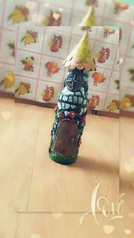 Handmade bottle Art